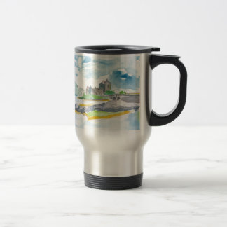 Scotland Highlands Fantasy and Eilean Donan Castle Travel Mug
