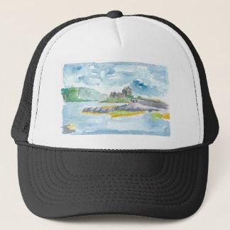 Scotland Highlands Fantasy and Eilean Donan Castle Trucker Hat