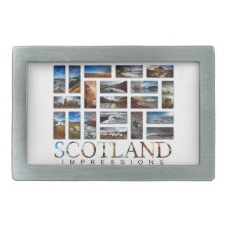 Scotland Impressions Rectangular Belt Buckle