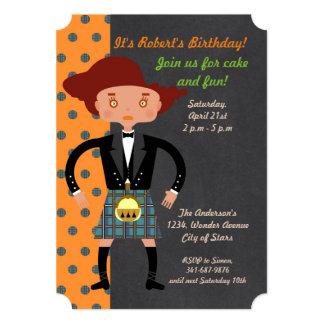 Scotland Kilts kids Birthday Party Card