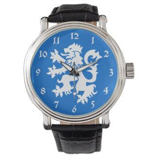 Scotland Lion Rampant Emblem Wrist Watch