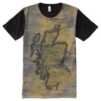 Scotland Map All-Over-Print T-Shirt