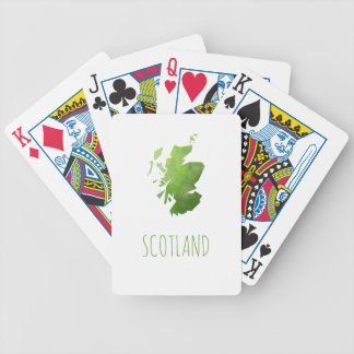 Scotland Map Bicycle Playing Cards