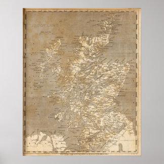 Scotland Map by Arrowsmith Print