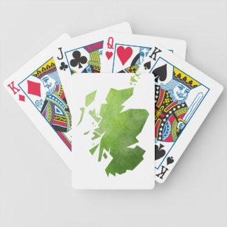 Scotland Map Poker Deck