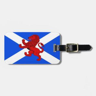 Scotland Rampant lion/Saint Andrew's flag emblem Luggage Tag