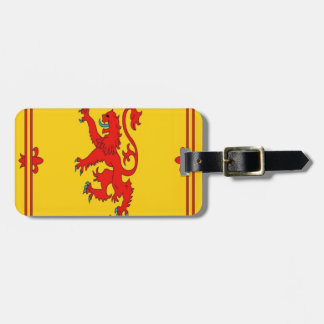 Scotland red lion rampant Flag Luggage Tag