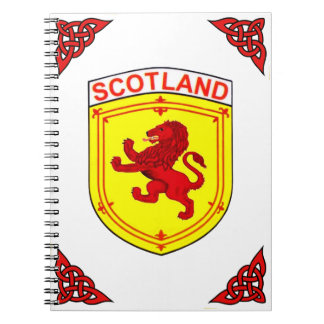 Scotland red Rampant ancient Lion flag Notebooks