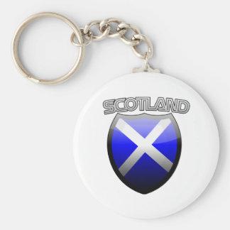 Scotland Retro Glass Keychain
