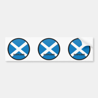 Scotland Roundel quality Flag Bumper Sticker
