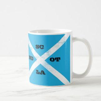 Scotland Saltire Flag Sky Blue and White Cross Mug