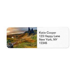 Scotland Scenic Rolling Hills Landscape Return Address Label
