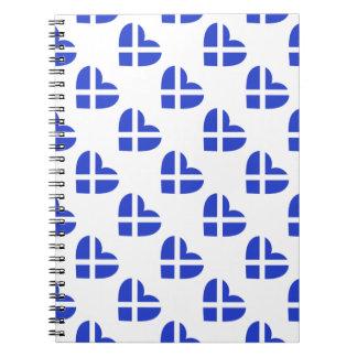 Scotland/Scottish flag-inspired Personnalised Spiral Notebook