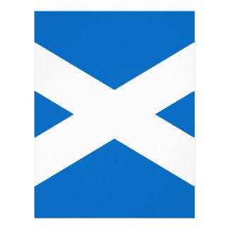 Scotland Scottish Flag Personalized Letterhead