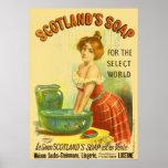 Scotland Soap Vintage Advertisement Poster