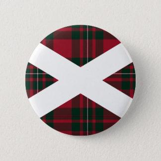 Scotland Tartan Badge 2 Inch Round Button