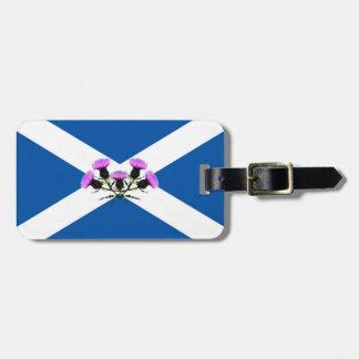 Scotland thistle flower/Saint Andrew's flag emblem Luggage Tag