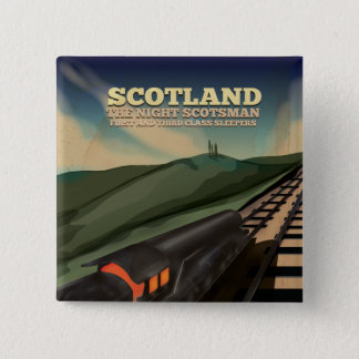 Scotland Travel Poster 2 Inch Square Button