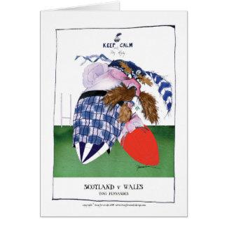 scotland v wales rugby balls tony fernandes card