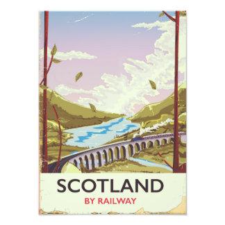 Scotland Vintage locomotive travel poster Photo Print