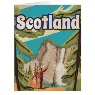 Scotland Vintage Travel Poster Card