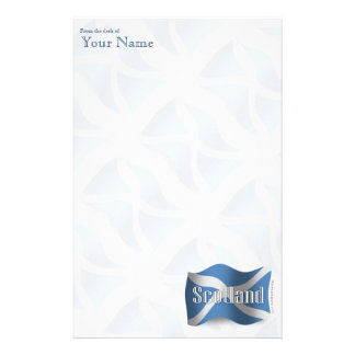 Scotland Waving Flag Stationery Design