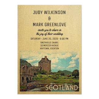 Scotland Wedding Invitation Eilean Donan Castle
