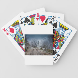 Scotland Winter Time Bicycle Playing Cards