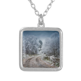 Scotland Winter Time Silver Plated Necklace