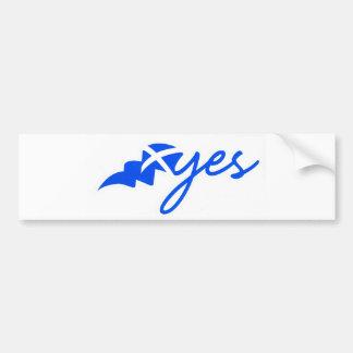 scotland yes bumper sticker