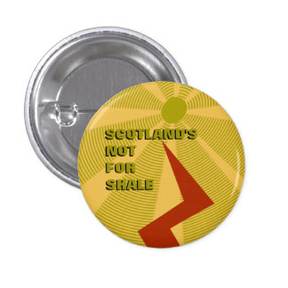 Scotland's Not For Shale Fracking Badge 1 Inch Round Button
