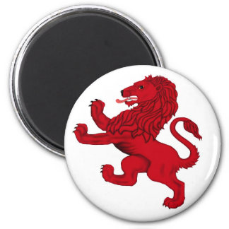 Scotland's Rampant Lion 2 Inch Round Magnet