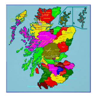 Scotland's Shires and Clans Poster