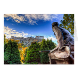 Scots American Memorial And Edinburgh Castle Card
