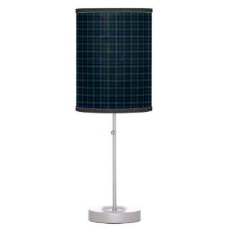 Scots Green Tartan Plaid designer Lamp