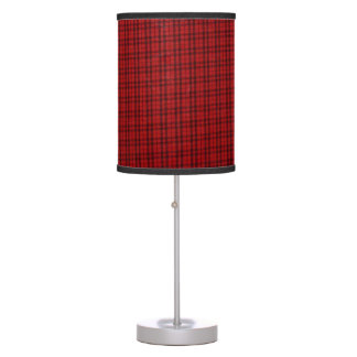Scots Red Tartan Plaid designer Lamp