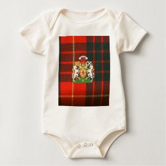 SCOTS UNICORN HERALDRY ON CAMERON TARTAN BABY BODYSUIT