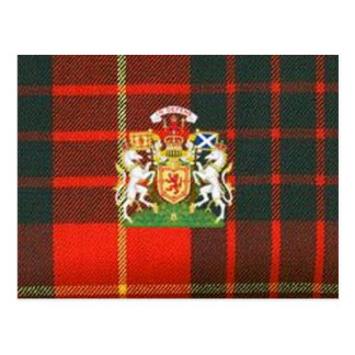 SCOTS UNICORN HERALDRY ON CAMERON TARTAN POSTCARD