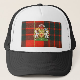 SCOTS UNICORN HERALDRY ON CAMERON TARTAN TRUCKER HAT