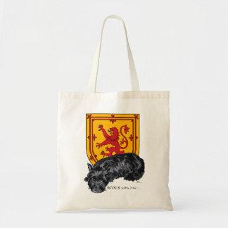 Scots Wha Hae - Scottie & Lion Rampant Budget Tote Bag