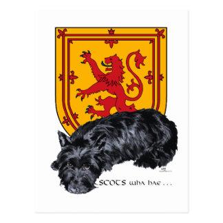 Scots Wha Hae - Scottie & Lion Rampant Postcard