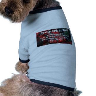 Scots Wha Hae-Tartan Dog T Shirt