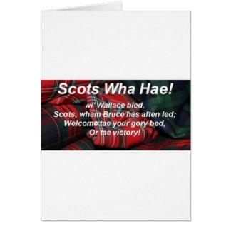 Scots Wha Hae-Tartan Greeting Card