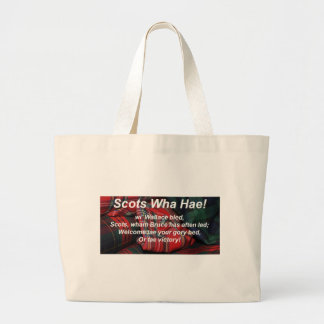Scots Wha Hae-Tartan Jumbo Tote Bag