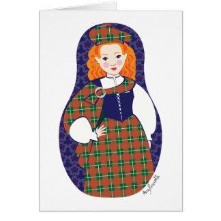 Scotswoman Matryoshka Card