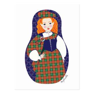 Scotswoman Matryoshka Postcard