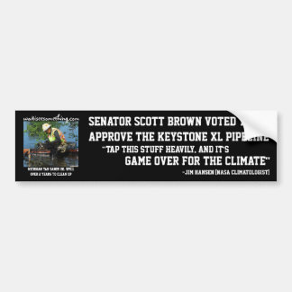 Scott Brown: Keystone XL Pipeline Bumper Sticker