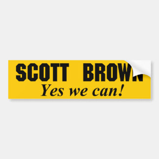 Scott Brown - Yes We Can Bumper Sticker