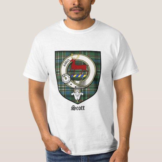 Scott Clan Crest Badge Tartan T-Shirt