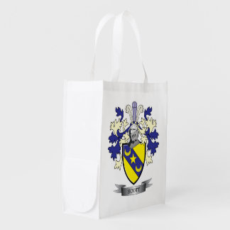Scott Family Crest Coat of Arms Reusable Grocery Bag